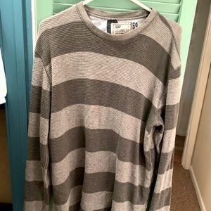 Men's GAP striped cotton thermal shirt